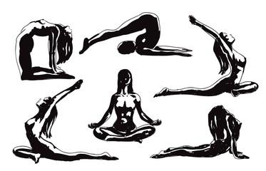 Sketch Yoga Poses