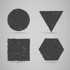 Geometric banners, hand draw