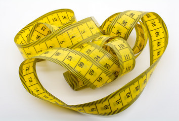 Macro Shot of A Yellow Measuring Tape