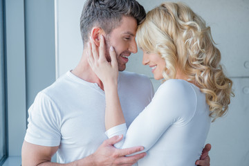 Loving couple enjoy a tender moment
