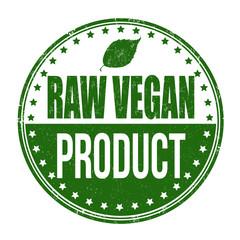 Raw vegan product stamp