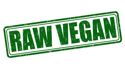 Raw vegan stamp