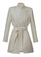 white coat isolated on white