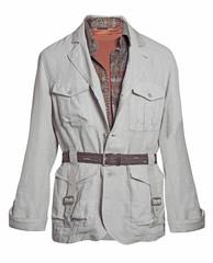 gray jacket isolated on white background