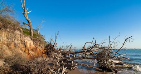 Beach erosion