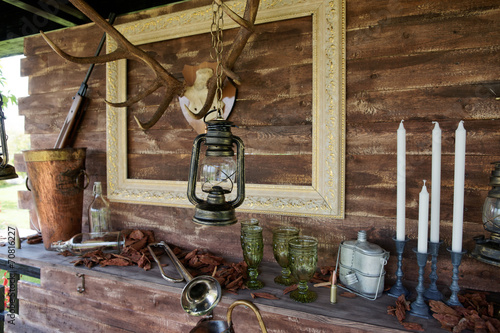 Hunting theme decoration of a summer house - 70816227