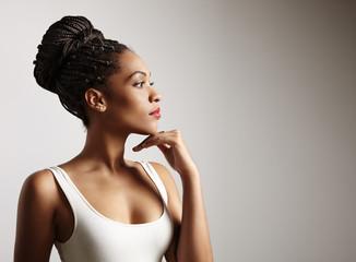 portrait of a gorgeous black woman