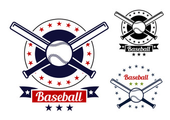 Baseball sport team badges