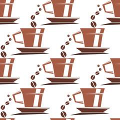 Coffee cups seamless pattern