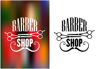 Barber shop icon, emblem or label