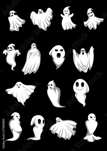White Halloween ghosts - 70816883