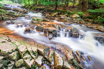 Mountain stream full of clean water