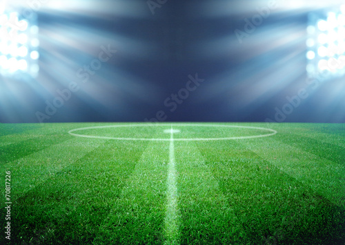 Fotobehang Stadion soccer field and the bright lights