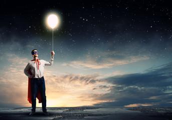 Superman with balloon