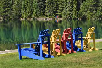 Adirondack Chairs at Beauvert Lake