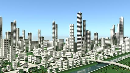 都市部の遠景