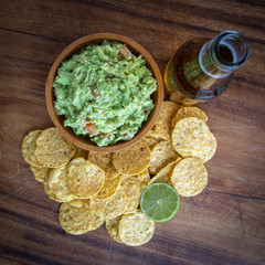 Guacamole Chips Beer