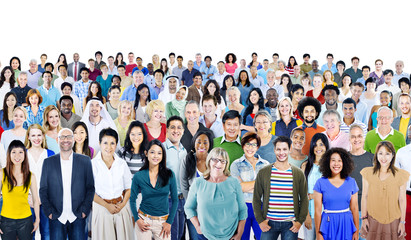 Large Group of Diverse Multiethnic Cheerful People