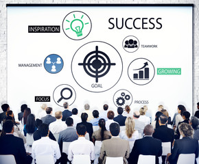 Diverse Business People in a Seminar About Success