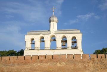 Звонница Софийского собора летним утром. Великий Новгород