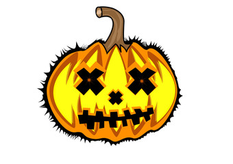 Pumpkin of halloween isolated on white background