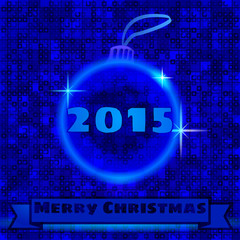 2015. Merry christmas and Christmas decorations