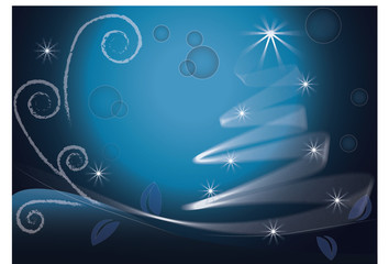 Blue Christmas Tree image vector background