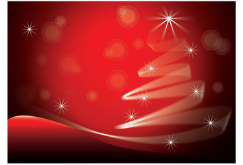 Red Christmas Tree image vector background