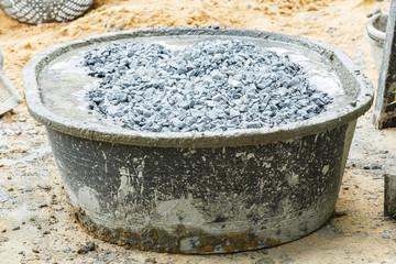 Concrete mixing tub