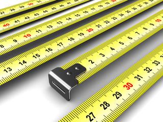 ruler meter tape background