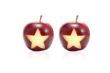 2 Star symbol on apples