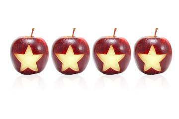 4 Star symbol on apples