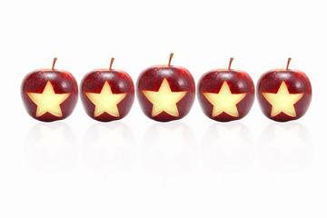 Star symbol on apples