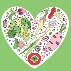 Vegetables heart
