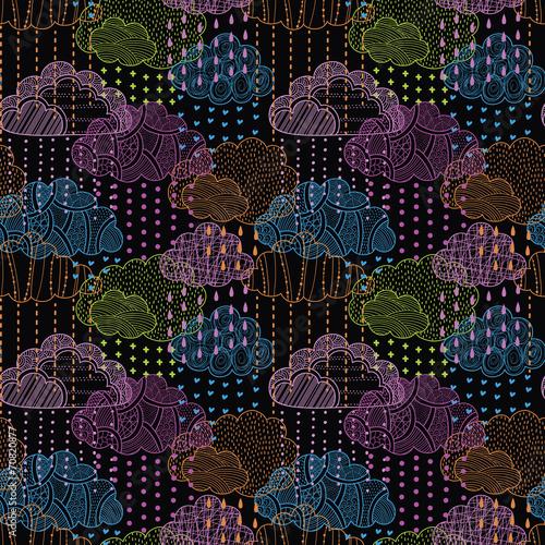 Rain seamless pattern