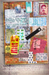 Scrapbook,patchwork and collage background