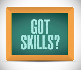 got skills sign message illustration design