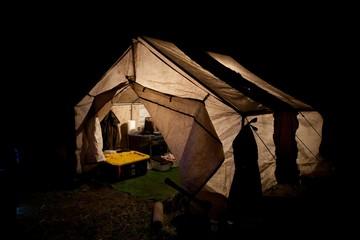 Elk Camp at Night