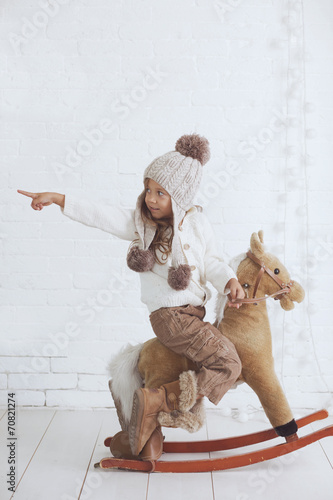 canvas print picture Fashion little girl