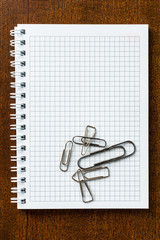Clips on the notebook