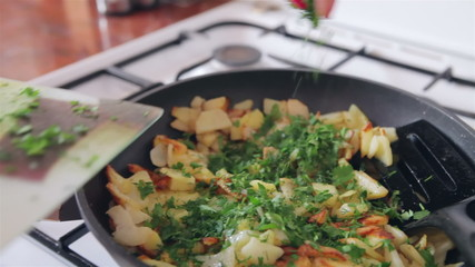 Seasoning with parsley
