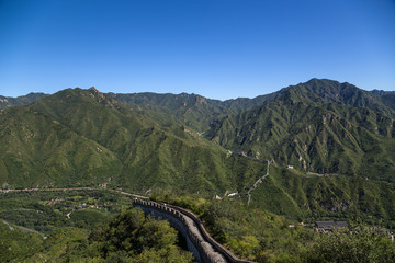 China,  Juyongguan. The picturesque landscape of the Great Wall