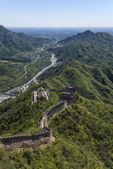 Mountain Valley and the Great Wall of China