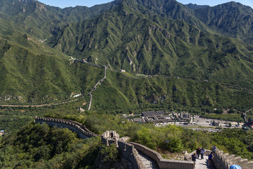 Great Wall of China in the mountains