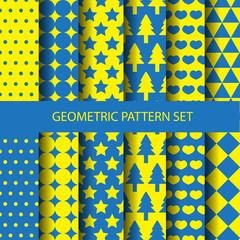 chic geometric pattern set,