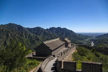 China, Juyongguan. Top view of a section of the Great Wall