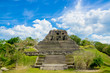 Leinwandbild Motiv xunantunich maya site ruins in belize