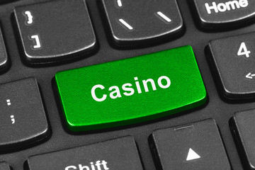 Computer notebook keyboard with Casino key
