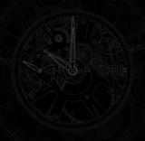 Metallic mechanical watch and clock component.