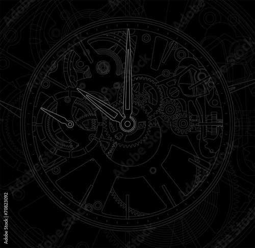 Metallic mechanical watch and clock component. - 70823092